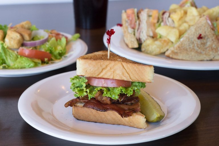 the pancakery serves lunch BLT and salads